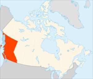 Британская Колумбия на карте