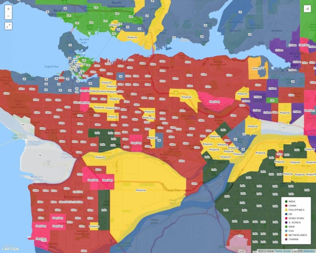 Иммигрантская карта Ванкувера