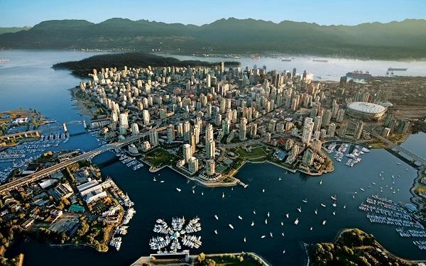 Ванкувер с высоты птичьего полёта
