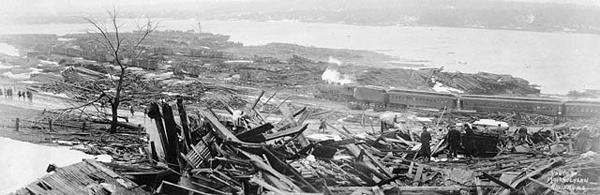 Гавань Галифакса после взрыва